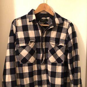 Jcrew flannel popover Sz S